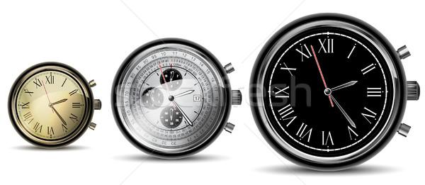 set of clocks Stock photo © kjolak