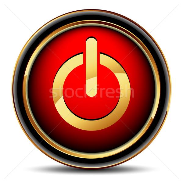 Güç web simgesi örnek yararlı tasarımcı çalışmak Stok fotoğraf © kjolak