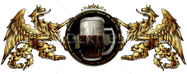 пива Label ретро-стиле белый бизнеса искусства Сток-фото © kjolak