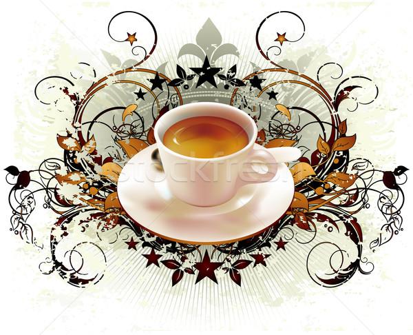 Kubek filiżankę kawy kawy elementy ilustracja Zdjęcia stock © kjolak