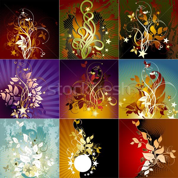 Ayarlamak kareler örnek yararlı tasarımcı Stok fotoğraf © kjolak
