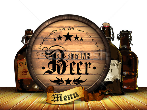 beer menu background Stock photo © kjolak