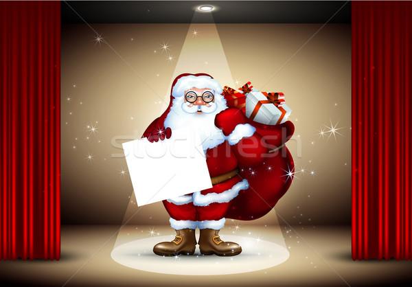 Christmas zak geschenken fase spotlight Stockfoto © kjolak