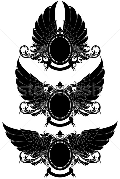 set of ornamental heraldic shields Stock photo © kjolak