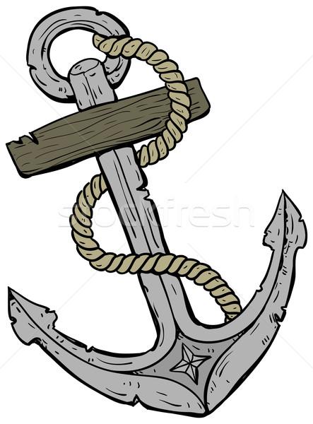 marine theme, anchor Stock photo © kjolak