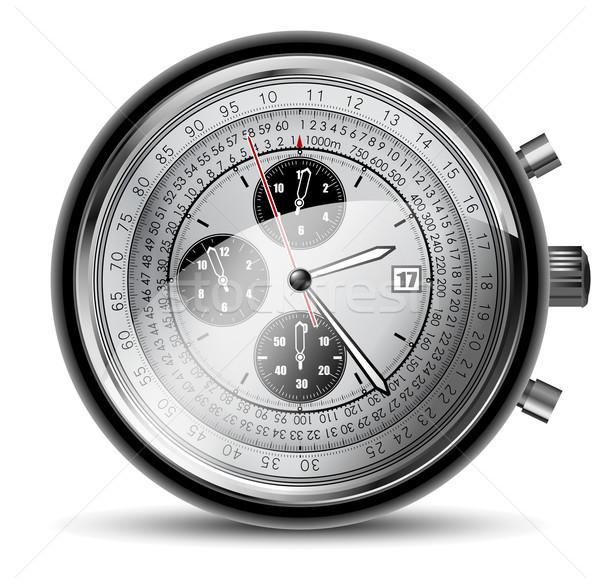 Horloges illustration utile designer travaux bureau Photo stock © kjolak