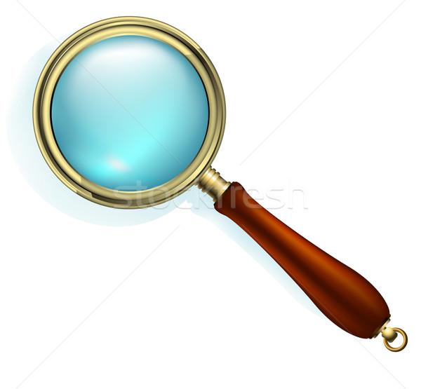 magnifying glass Stock photo © kjolak