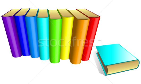 Libri illustrazione utile designer lavoro scuola Foto d'archivio © kjolak