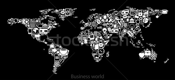 map of business world Stock photo © kjolak