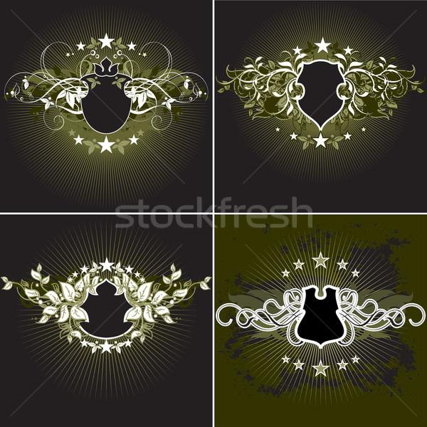Foto stock: Ilustración · útil · disenador · trabajo · flor · corazón