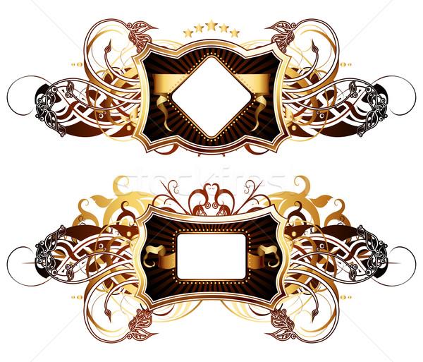Stock fotó: Díszítő · illusztráció · hasznos · designer · munka · keret