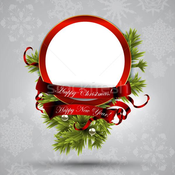 Christmas greeting card Stock photo © kjolak