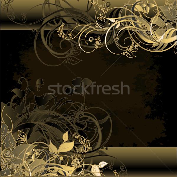 Virágmintás keret illusztráció hasznos designer munka Stock fotó © kjolak