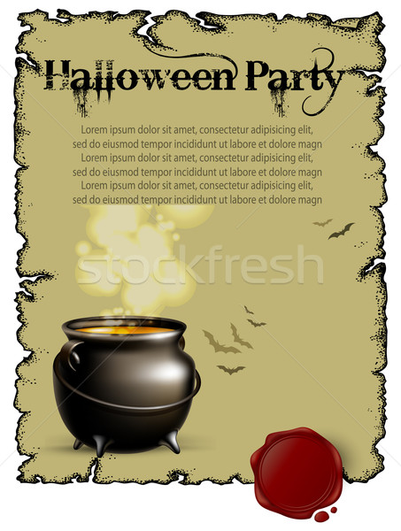 Foto stock: Halloween · ilustração · útil · estilista · trabalhar · luz