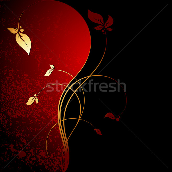 Floral cadre illustration utile designer travaux Photo stock © kjolak