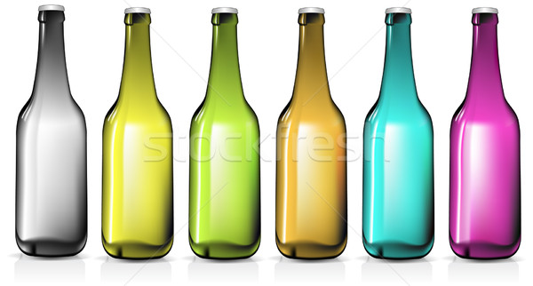 Bottiglie illustrazione utile designer lavoro alimentare Foto d'archivio © kjolak