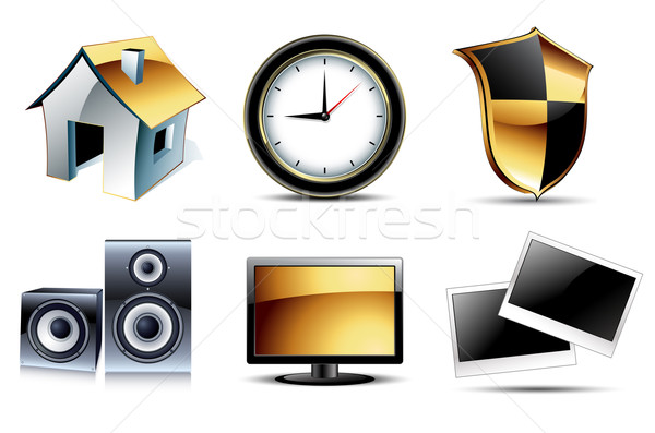 web icons high detailed set Stock photo © kjolak