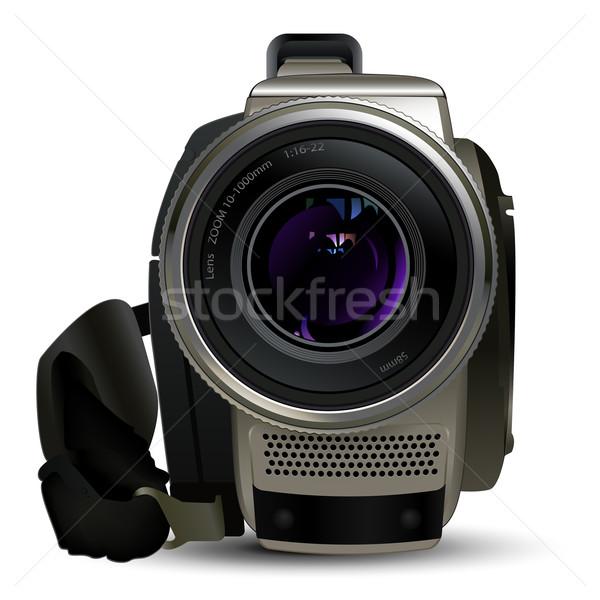 Zdjęcia stock: Kamery · wideo · szczegółowy · ilustracja · kamery · wideo · szkła
