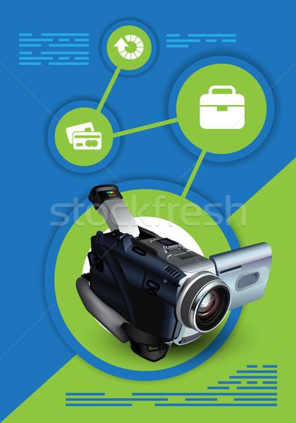 Brossúrák design sablon terv sablonok digitális eszközök Stock fotó © kjolak