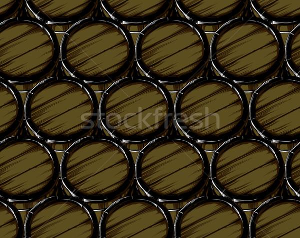 beer barrels seamless Stock photo © kjolak