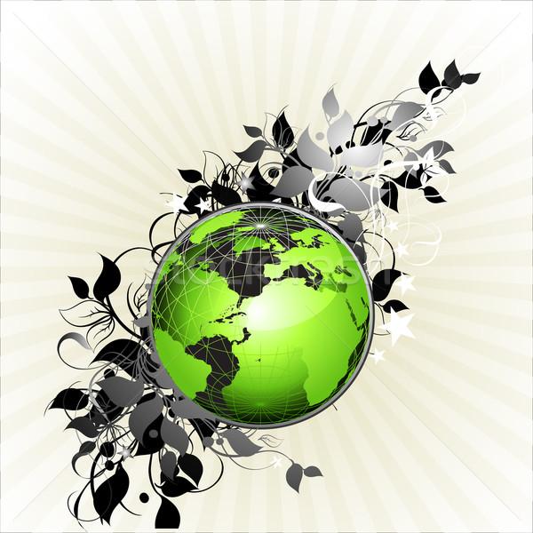 Világ virágmintás illusztráció hasznos designer munka Stock fotó © kjolak