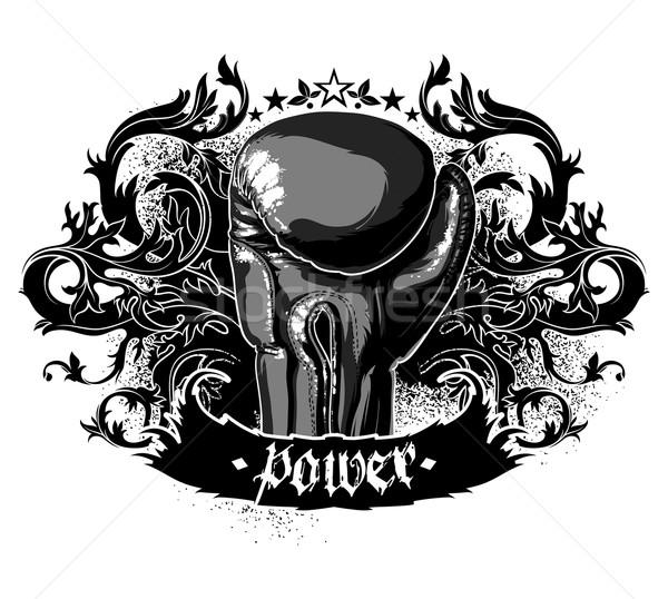 Sport box szimbólum győzelem boxkesztyűk dekoratív Stock fotó © kjolak