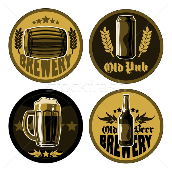 Stock photo: set of accessories for pub