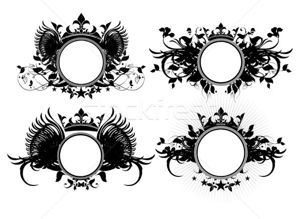 Stockfoto: Illustratie · nuttig · ontwerper · werk · bloem · ontwerp