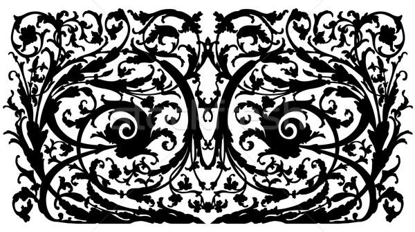 Refinado preto desenho decorativo ornamento Foto stock © kjolak