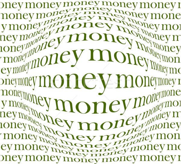 Pénz illusztráció hasznos designer munka absztrakt Stock fotó © kjolak