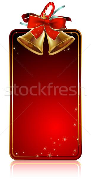 christmas bells card Stock photo © kjolak