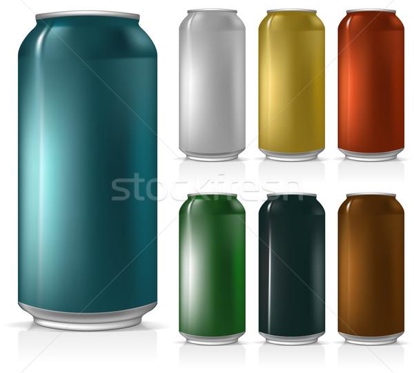 Establecer jar cerveza ilustración útil disenador Foto stock © kjolak