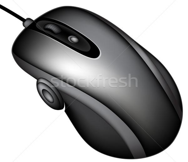 Bilgisayar fare örnek yararlı tasarımcı çalışmak düğme Stok fotoğraf © kjolak