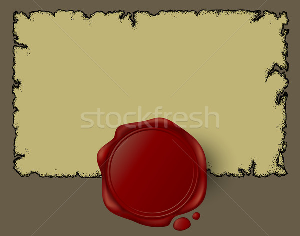 paper with wax seal Stock photo © kjolak