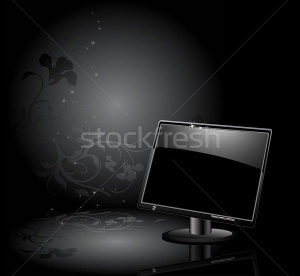 LCD panneau floral illustration utile designer Photo stock © kjolak