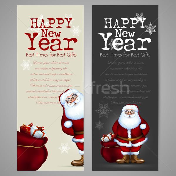 set of christmas labels Stock photo © kjolak