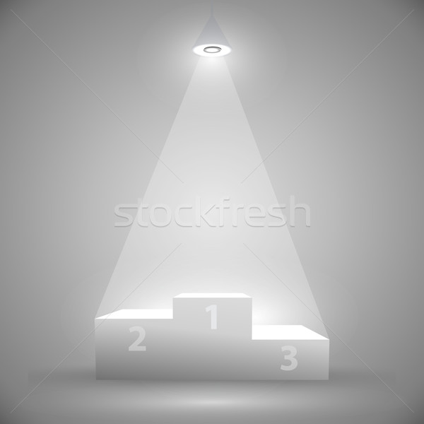 Podio ganadores atención monocromo luz gris Foto stock © kjolak