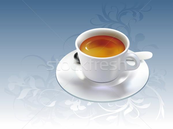 Kubek filiżankę kawy kawy ilustracja przydatny projektant Zdjęcia stock © kjolak