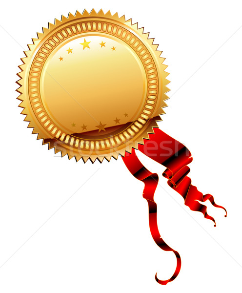 Médaille ruban illustration utile designer travaux Photo stock © kjolak