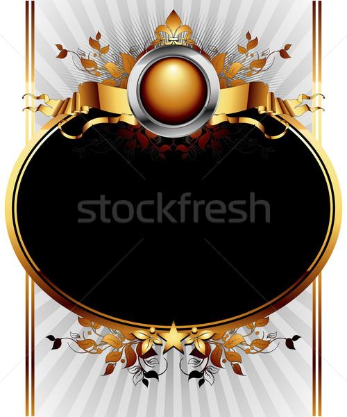 Díszes keret illusztráció hasznos designer munka Stock fotó © kjolak
