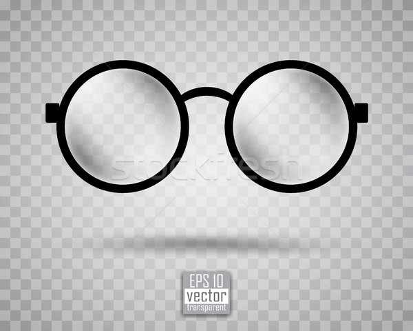 round black-rimmed glasses Stock photo © kjolak