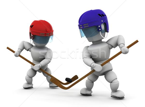 Ice hockey players Stock photo © kjpargeter