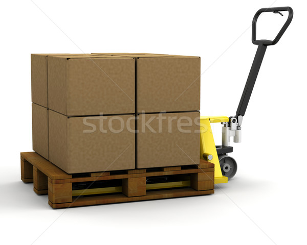 Pallet truck with boxes Stock photo © kjpargeter