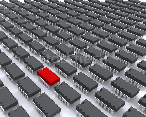 вирус нарушитель компьютер ошибки один красный Сток-фото © kjpargeter