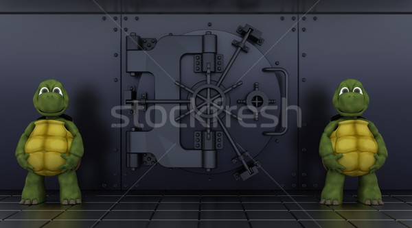 tortoises guarding bank vault Stock photo © kjpargeter