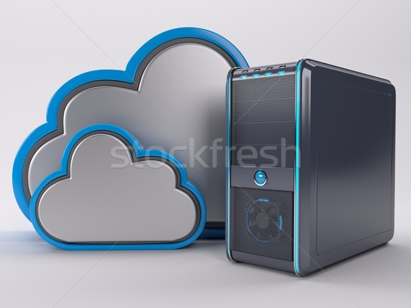 Pc ordenador torre 3d negocios tecnología Foto stock © kjpargeter