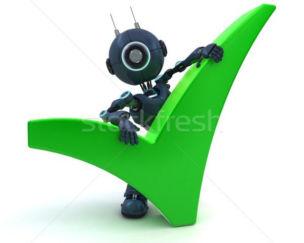 Android symbool 3d render robot vorm 3D Stockfoto © kjpargeter