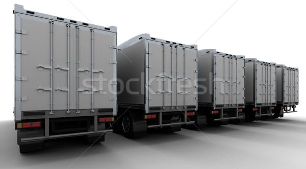 American sem -truck Stock photo © kjpargeter