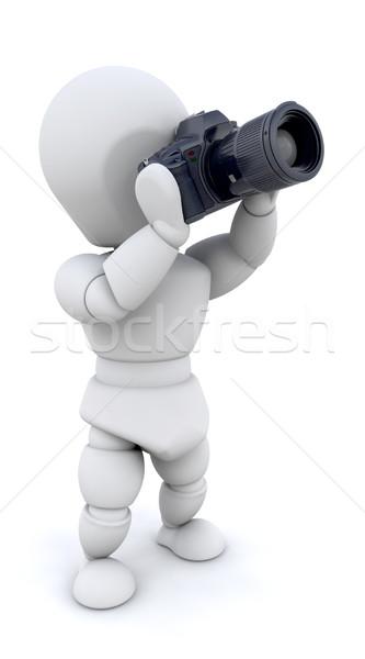 Сток-фото: человека · камеры · 3d · визуализации · Увеличить · объектив · фильма