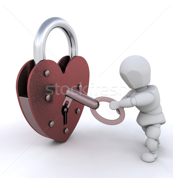 Unlocking heart Stock photo © kjpargeter
